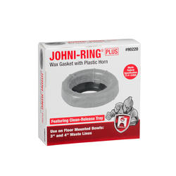 "Johni-Ring- Standard-For 3"" or 4"" Waste Lines - With Plastic Horn"