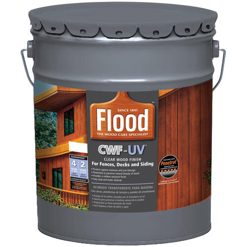 Flood Cwf Uv Penetrating Clear Exterior Wood Finish 5 Gal