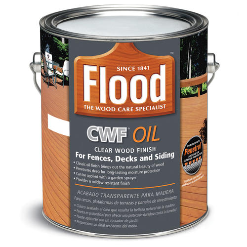Flood Cwf Oil Penetrating Clear Exterior Wood Finish 1 Gal At Menards