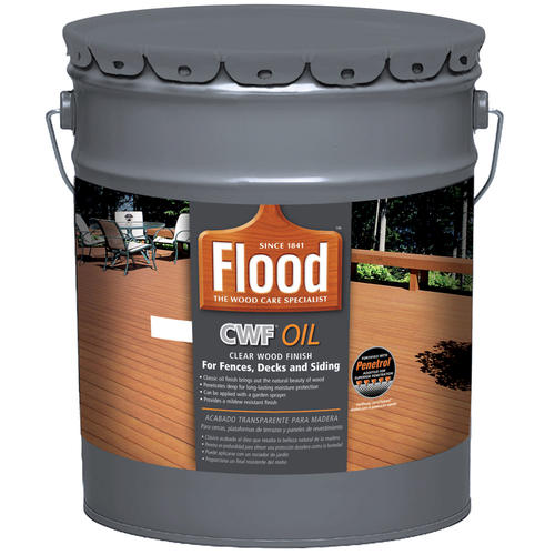 Flood cwf oil penetrating clear exterior wood finish 5 for Exterior wood stain flood