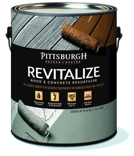 Pittsburgh Paints & Stains® Revitalize Wood and Concrete Resurfacer ...