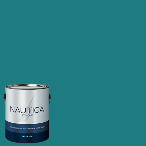 nautica at home flat interior paint primer in one 1. Black Bedroom Furniture Sets. Home Design Ideas