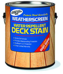 Weatherscreen® Semi-Transparent Naturaltone Redwood Water Repellent Deck Stain - 1 gal.
