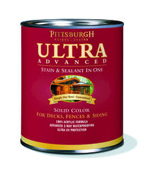 Pittsburgh Paints & Stains® Ultra Advanced Solid Color Clear Wood Stain & Sealant - 1 qt.