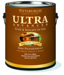 Pittsburgh Paints & Stains® Ultra Advanced Semi-Transparent Clove Brown Wood Stain & Sealant - 1 gal.
