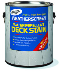 Weatherscreen® Solid Color Russet Water Repellent Deck Stain - 1 gal.