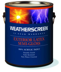 Weatherscreen White Exterior Latex Paint - 1 gal.
