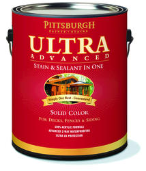 Pittsburgh Paints & Stains® Ultra Advanced Solid Color Outside White Wood Stain & Sealant - 1 gal.