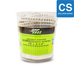 """Grip Fast #8 x 2-1/2"""" ACQ Lumber Collated Screw - 800 Pieces"""