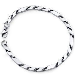 Oravo Stainless Steel Fancy 3D Arrow Link Bracelet for Men