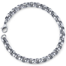 Oravo Cool and Classy Stainless Steel Rolo Link Bracelet for Men