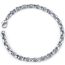 Oravo Sleek and Trendy Stainless Steel Belcher Link Bracelet for Men