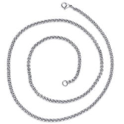 Oravo 3 mm Stainless Steel Rolo Chain Necklace