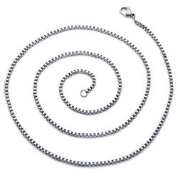 Oravo 2 mm Stainless Steel Box Chain Necklace