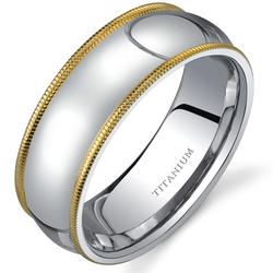 Oravo Classic 8 mm Comfort-Fit Titanium Wedding Band for Men