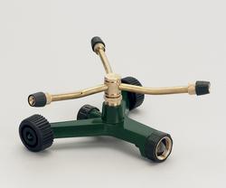 Brass 3-Arm Adjustable Sprinkler with Wheel Base