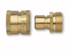 Brass Quick Connect Set with Shut-off