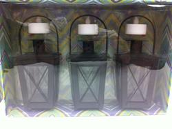 3-Pack Metal Lanterns (Assorted Colors)