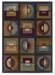 "Oriental Weavers Aura Geometric Area Rug 22"" x 90"""
