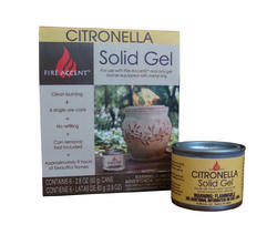 Fire Accent Citronella Solid Gel (6-Pack)