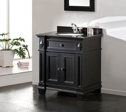Simple The Vincente Vanity Establishes A Strong And Solid Foundation For Any Modern Bathroom The Vanity Features Solid Oak Wood Construction With One Soft Closing Door And Six Storage Drawers The Vanity Is Finished In A Modern And Crowned