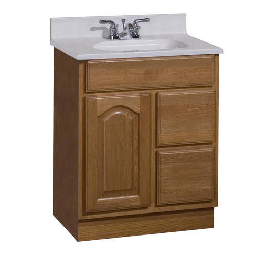 pace king james series 24 x 21 vanity with drawers on right