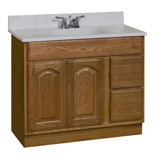 Pace king james series 36 x 18 vanity with drawers on right at menards for 36 x 18 bathroom vanity cabinet