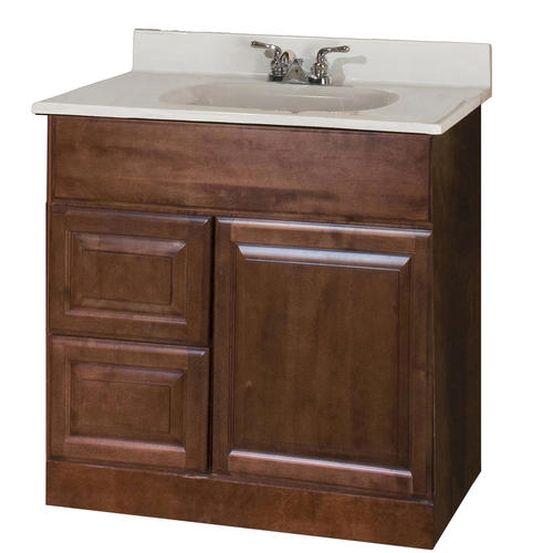 pace valencia series 30 x 21 vanity with drawers on left