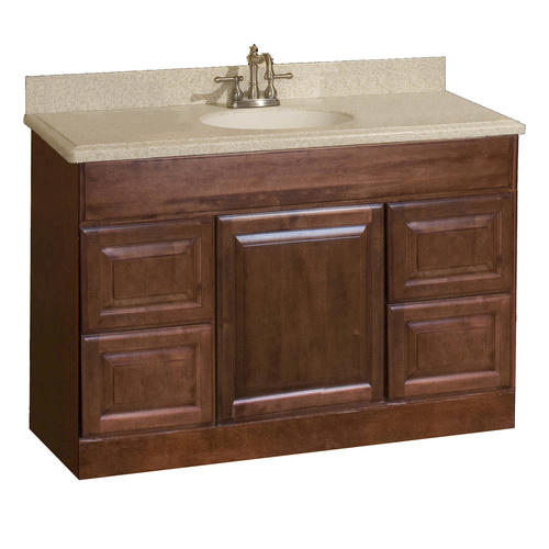 Pace valencia series 48 x 18 vanity with drawers at menards - Menards bathroom vanities 48 inches ...