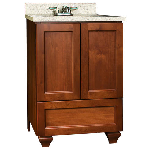 Pace Roma Series 24 X 21 2 Door Vanity With Bottom Drawer At Menards