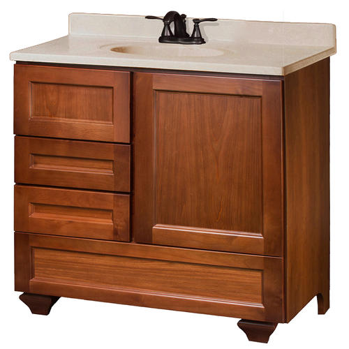 pace roma series 36 x 18 vanity with bottom drawer and side drawe