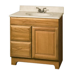 """Pace Carnegie Series 30"""" x 18"""" Vanity with Drawers on Left"""