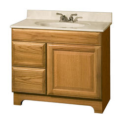 "Pace Carnegie Series 36"" x 18"" Vanity with Drawers on Left"