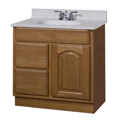 "Pace King James Series 30"" x 18"" Vanity with Drawers on Left"