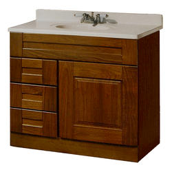 "Pace Statesman Series 36"" x 18"" Vanity with Drawers on Left"