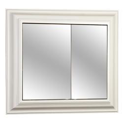 "Pace 30"" White Crown Framed Bi-View Medicine Cabinet"