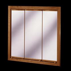 """Pace 24"""" Oak Tri-View Medicine Cabinet"""