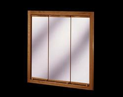 """Pace 30"""" Oak Tri-View Medicine Cabinet"""