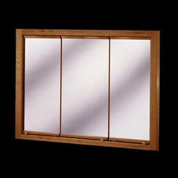 """Pace 48"""" Oak Tri-View Medicine Cabinet"""