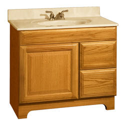 "Pace Carnegie Series 36"" x 18"" Vanity with Drawers on Right"