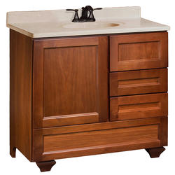 "Pace Roma Series 36"" x 21"" Vanity with Bottom Drawer and Side Drawers on Right"