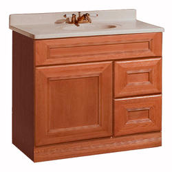 """Pace Royal Oak Series 36"""" x 18"""" Vanity with Drawers on Right"""