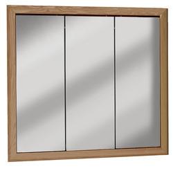 "Pace 36"" Unfinished Oak Tri-View Medicine Cabinet"
