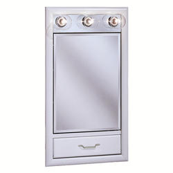 "Pace 17-1/4"" White Lighted Medicine Cabinet with Drop Door"