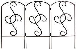 "Enchanted Garden 24""H x 36""W Scroll Hinged Border Fence"