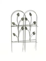 """Enchanted Garden 32""""H x 8'W Leaf Folding Border Fence"""