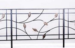"Enchanted Garden 20""H x 24""W Leaf and Vine Border Fence"