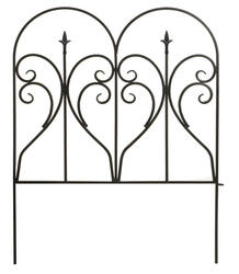 "Enchanted Garden 31""H x 24""W Heart and Finial Border Fence"