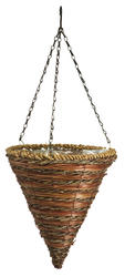 """12"""" Rope and Fern Cone Hanging Basket"""