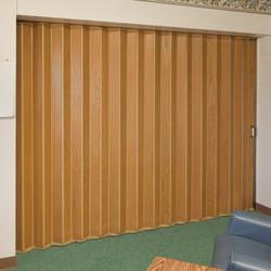 "Panelfold® 96"" W x 96"" H Sonicwal/44 Wood Core Red Oak Wood Veneer Single Folding Partition"